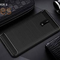 Защитный чехол Slim с карбоновыми вставками для Nokia 7 (выбор цвета)