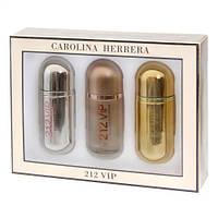 Женский подарочный набор Carolina Herrera 212 VIP (3 шт по 30 мл)