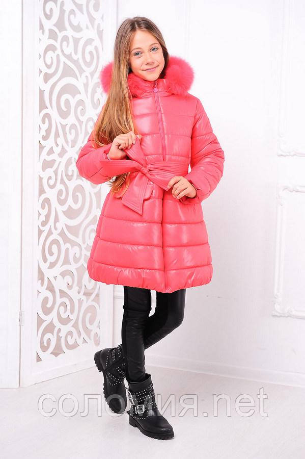 9dad7911aa3 Яркая и стильная зимняя куртка для девочки 122-146р  продажа