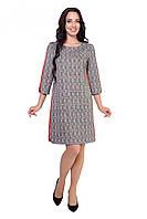 Платье Размеры: 46- 52 идёт прямого  кроя. Выполнено из ткани  трикотаж в клетку, очень актуальную в этом сезо