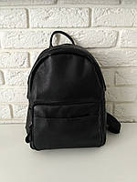 """Вместительный рюкзак из натуральной кожи """" Агрус Black"""""""