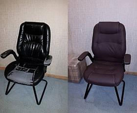 Перетяжка мягкого кресла для совещаний