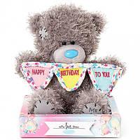 Мишка Teddy с разноцветными флажками 18 см AP701012