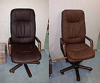 Перетяжка офисного кресла для руководителя Палермо