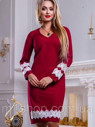 Женское платье с кружевным кантом (2454-2452-2453-2455 svt), фото 2