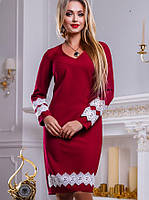 Женское платье с кружевным кантом (2454-2452-2453-2455 svt)