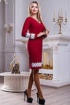 Женское платье с кружевным кантом (2454-2452-2453-2455 svt), фото 3