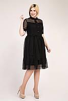 Черное элегантное платье с гипюровой сеткой