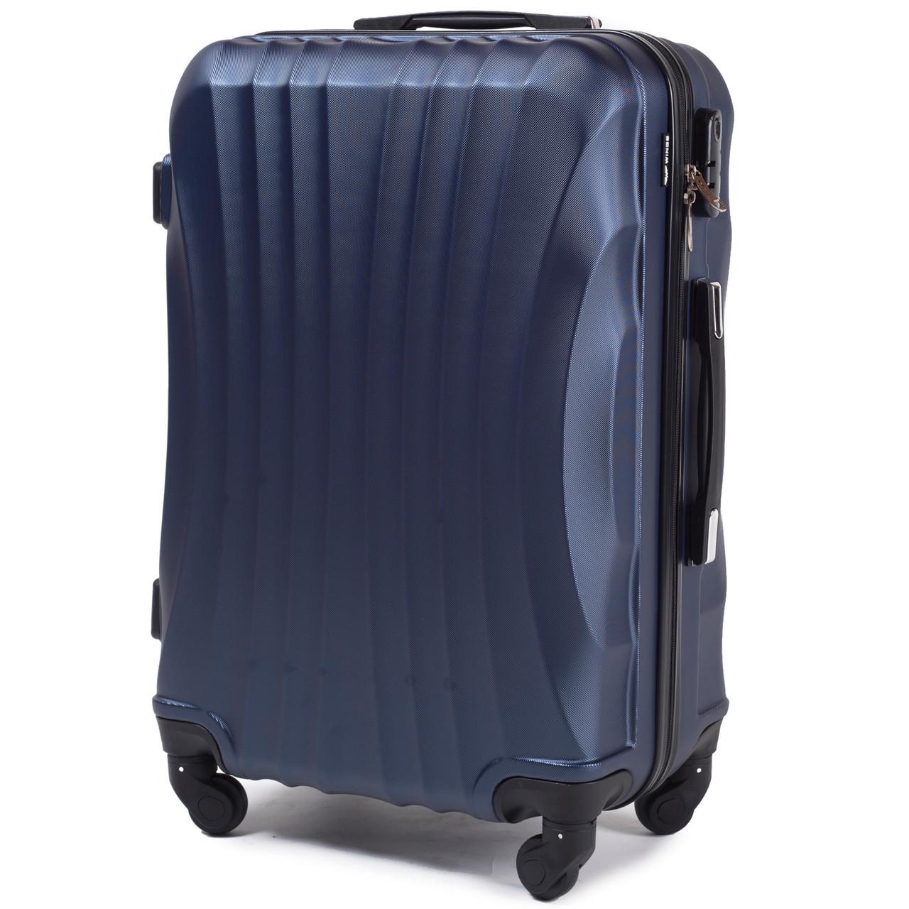 """Чемодан пластиковый на колесах WINGS 159  малый 45 л. 20"""" цвет синий"""