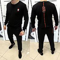 Мужской черный спортивный костюм Gucci