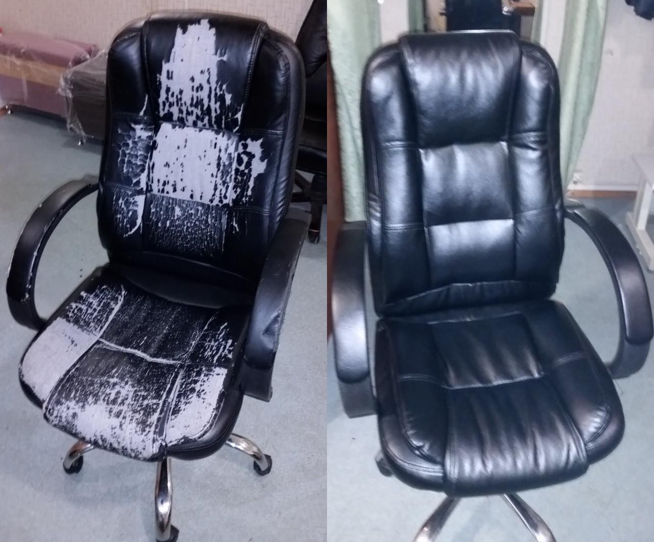 Перетяжка офисного кресла для руководителя Невада