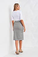 Женская молодежная юбка длины миди на пуговичах