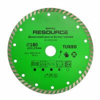 "Алмазный диск 115мм ""TURBO"" Resource Spitce, 22-827"