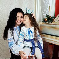 Детская вышиванка для девочки ОПТОМ (ручная робота, 5 лет), фото 1