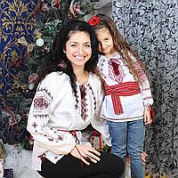 Вышиванка для девочки (ручная вышивка, 5 лет), фото 1