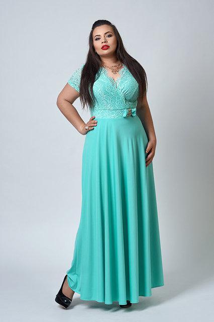 1f831748fe9df4b Купить Нарядное длинное платье большого размера 543692408 - Грация ...