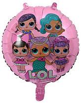 Куля фольгований круглий Ляльки Лол