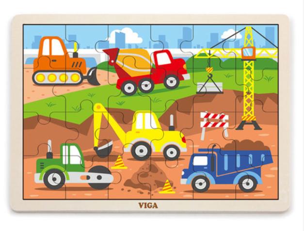 Пазл Строительная техника Viga toys 24 эл. (51463)