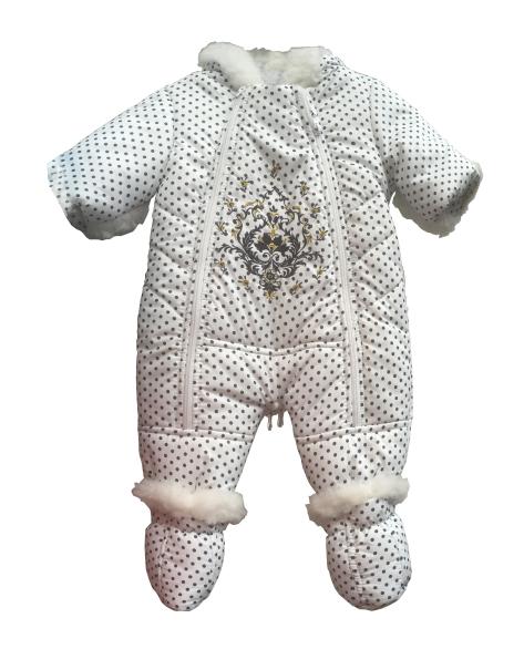 Зимовий дитячий комбінезон прінтованний