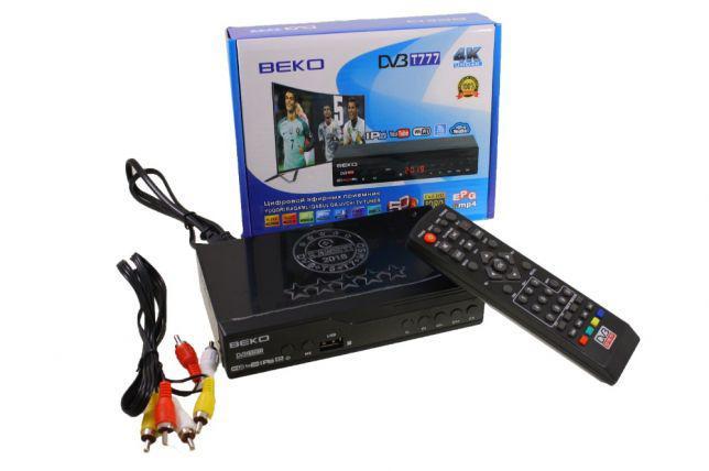Цифровой эфирный Тюнер T2 DV3 BEKO T777 4K с WIFI и экраном