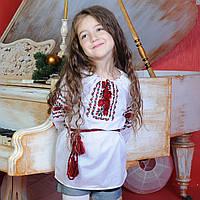 Дитяча вишиванка Троянди  (ОПТОМ, ручна вишивка, 6 років), фото 1