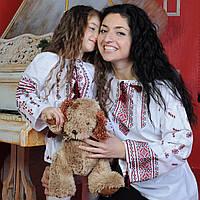Дитяча вишиванка для дівчинки (ОПТОМ, ручна вишивка, 6 років), фото 1
