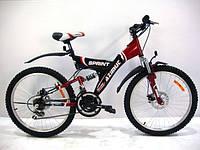 Двухподвесный подростковый велосипед Azimut Sprint D 24''