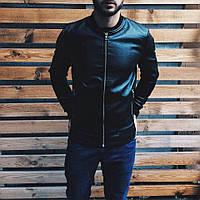 Мужская стильная кожаная куртка  Хорошего качества, фото 1