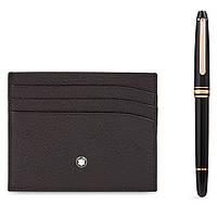 Набор Montblanc ручка-роллер + портмоне для кредитных карт 114121