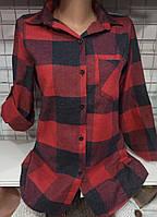 Рубашка в клетку байковая женская