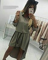 Платье-рубашка женское  та489, фото 1