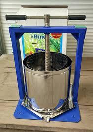 Ручной пресс-соковыжималка Вилен (Вілєн) объемом 15 литров нержавеющая сталь