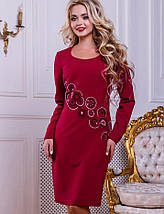 Женское платье с вышивкой из пайеток (2457-2456-2458-2459 svt), фото 2