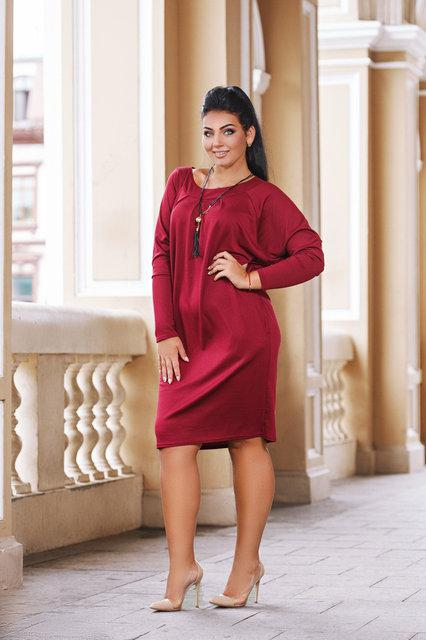 Повседневное женское платье с кулоном батал (К24043)