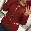Женская куртка из плащевки с декором в расцветках. В-2-0918, фото 3