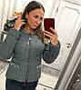 Женская куртка из плащевки с декором в расцветках. В-2-0918, фото 4