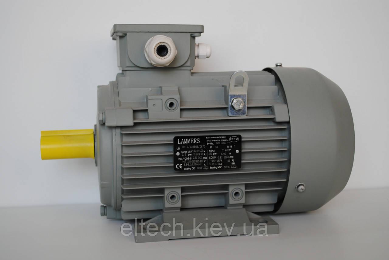 22кВт/1500 об/мин, фланец, 13ВA-180L-4-В5. Электродвигатель асинхронный Lammers