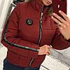 Женская куртка из плащевки с лампасом в расцветках. В-3-0918, фото 2