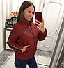 Женская куртка из плащевки с лампасом в расцветках. В-3-0918, фото 5