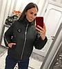 Женская куртка из плащевки с лампасом в расцветках. В-3-0918, фото 6