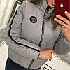 Женская куртка из плащевки с лампасом в расцветках. В-3-0918, фото 7