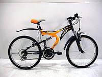 """Горный двухподвесный велосипед Azimut Blaster 24"""" (простой)"""
