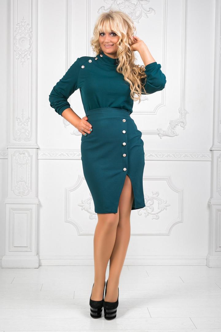 e50a66f658e6 Костюм с юбкой. Модель 0201980. Ткань: верх - итальянский креп, юбка ...