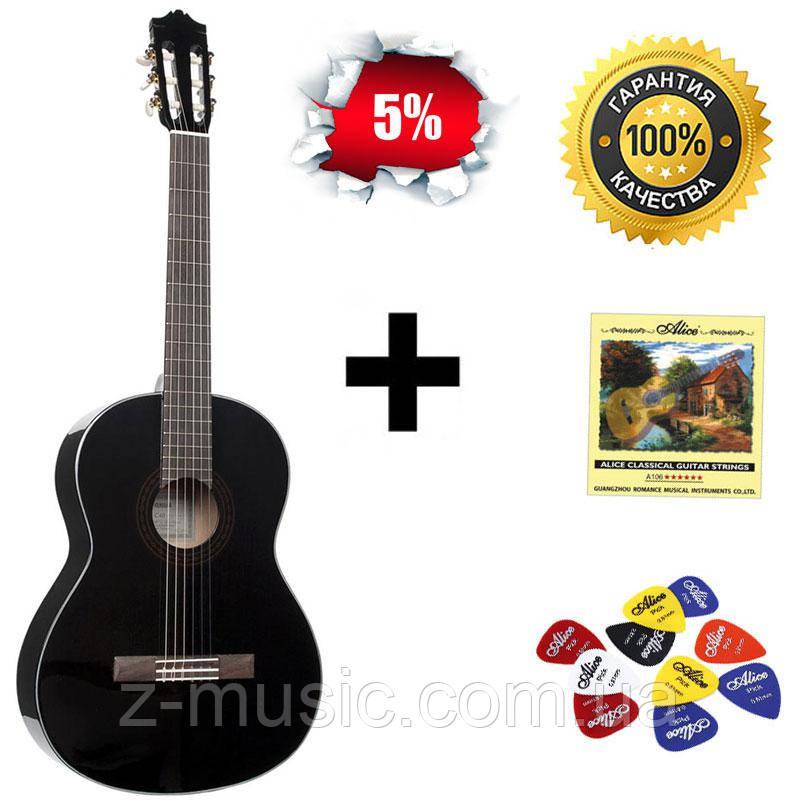 Гитара классическая Yamaha С40 BL, полноразмерная глянцевая