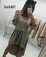 Платье - рубашка / креп - костюмный / Украина 14-489, фото 1