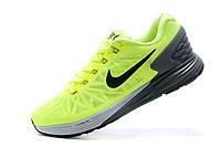Мужские кроссовки Nike Lunarglide 6 салатовые