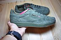 Мужские замшевые кроссовки в стиле Reebok Classic Green Suede