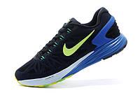Мужские кроссовки Nike Lunarglide 6 черные, фото 1
