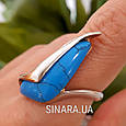 Серебряное кольцо с бирюзой  - Кольцо с бирюзой серебро, фото 7
