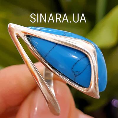 Серебряное кольцо с бирюзой  - Кольцо с бирюзой серебро